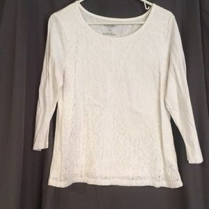 Old Navy Lace Front Tee